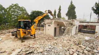 NEW JCB 3DX WITH ROCKBREAKER    HOUSE DESTROYED   