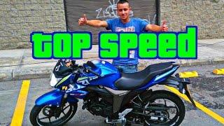 Suzuki gixxer Test Ride / Máxima velocidad