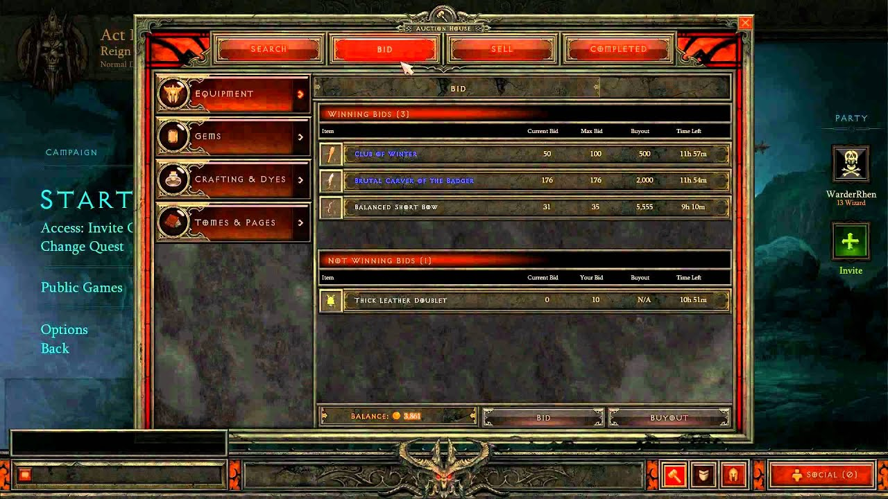 Diablo 3 Beta Gold Auction House Buy and Sell Items