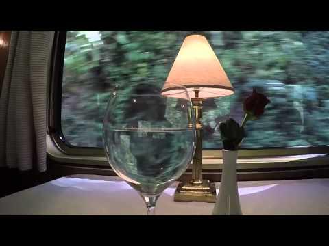Hiram Bingham Train hypnotic water in wine glass