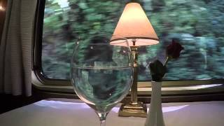 Hiram Bingham Train hypnotic water in wine glass