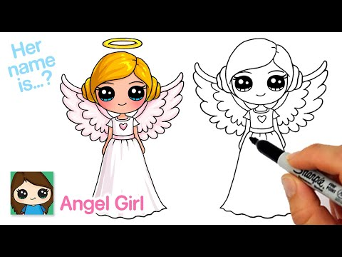 How To Draw An Angel Cute Girl   New