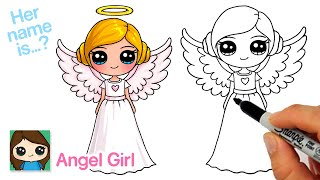 How to Draw an Angel Cute Girl | New