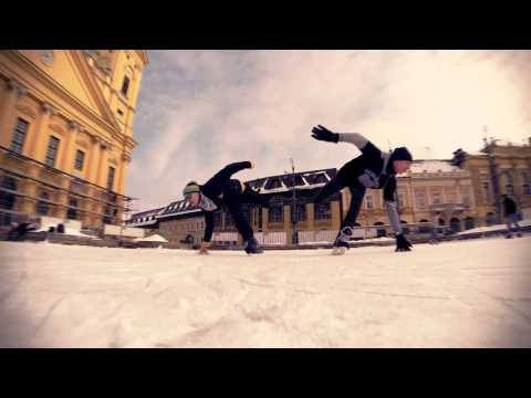 Ice Skating Tricks from the air - Debrecen, Hungary