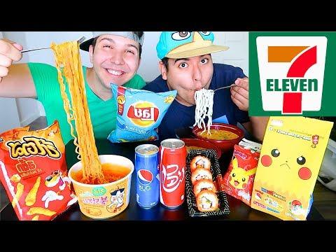 Asian 7-Eleven • อาหารไทย • MUKBANG