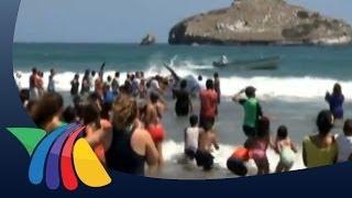 Regresan al mar a ballena varada en Mazatlán | Noticias de Mazatlán