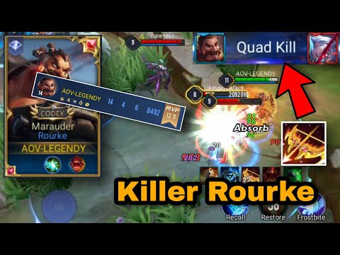 Rourke Pro Gameplay | How To Be A Real Killer & Destroy The Enemy ( MUST WATCH ) | ARENA OF VALOR
