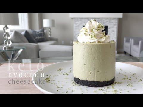 Keto Avocado Cheesecake