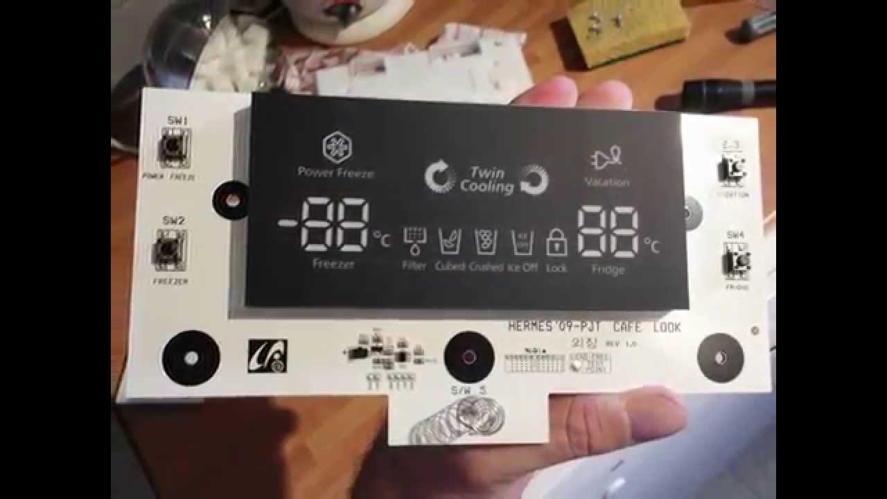 Platine affichage frigo samsung youtube - Frigo americain whirlpool ...