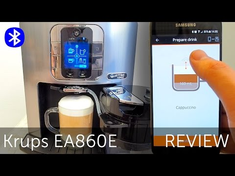 Krups EA860E Latte Smart review - espresso coffee maker with bluetooth smartphone app control