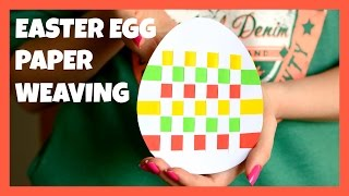 Easter Egg Paper Weaving - paper craft idea