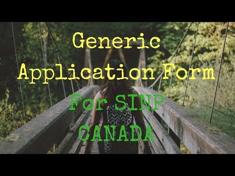 Generic Application Form Sample/Guide For SINP (Language: বাংলা)