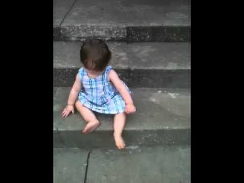 Kali still on concrete steps