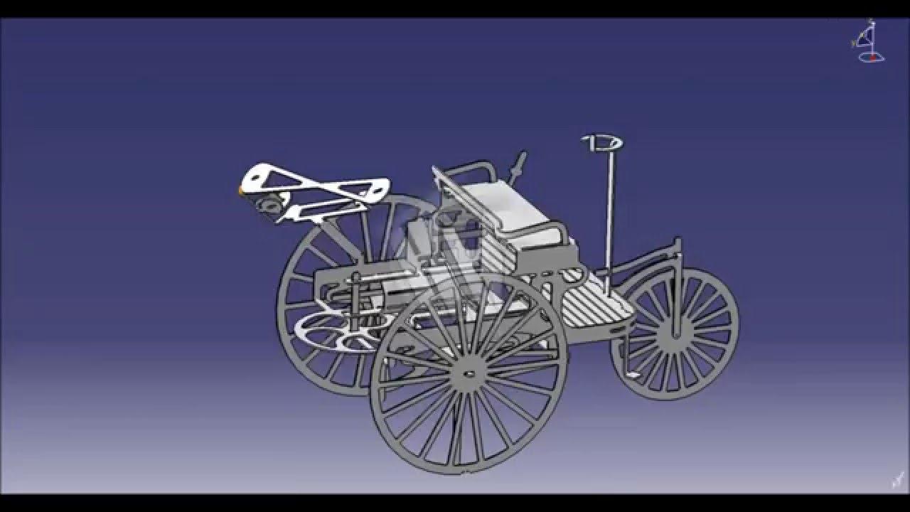 modell vom carl benz patent motorwagen als blech biegeteil youtube. Black Bedroom Furniture Sets. Home Design Ideas