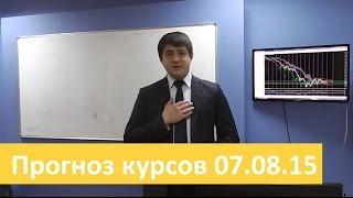 Аналитика форекс на сегодня от Владимира Чернова 7 августа 2015 прогнозы по рынку Форекс на сегодня