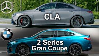 2020 BMW 2 Gran Coupe vs Mercedes CLA, CLA vs 2 series , BMW vs Mercedes - visual compare