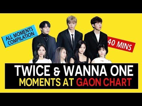 TWICE (트와이스)  & WANNA ONE ( 워너원 ) moments at Gaon Chart Award 2018 180214