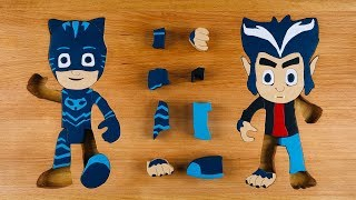 PJ Masks wooden puzzles Catboy and Howler