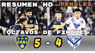 Boca Juniors Vs Velez Penales (5-4) Cuartos de Finales  Resumen HD