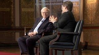 Warren Buffett, Brian Moynihan Speak at Georgetown