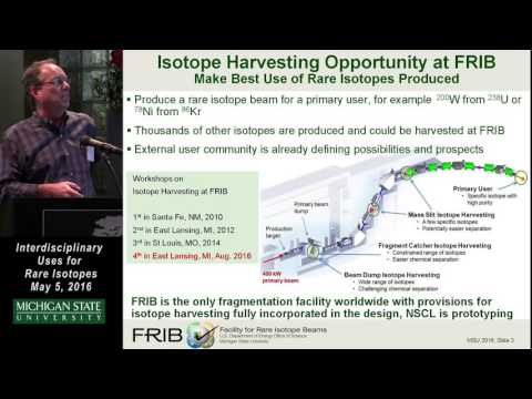 Isotope Harvesting Opportunities at the Facility for Rare Isotope Beams - D. J. Morrissey