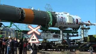 Expedition 36/37 Soyuz Rocket moves to Launch Pad