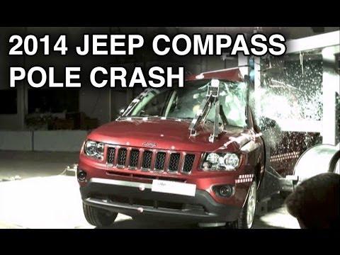 2014 Jeep Compass Pole Crash Test Crashnet1 Youtube
