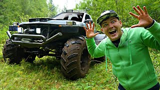 Купили на аукционе автомобиль за 200 000 рублей, а это оказался огромный монстр-трак