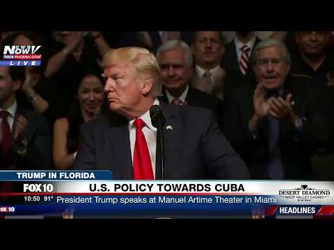 FULL SPEECH: President Trump Announces He is CANCELLING Obama's Cuba Policy, Participates in Signing