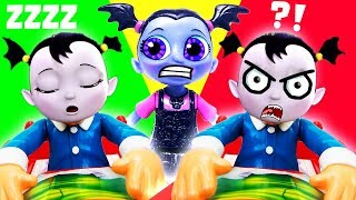 Vampirina Don't Wake Nosy Game w/ Poppy, Vampirina, Oxana, Boris & Wolfie & Learn Colors & Numbers!