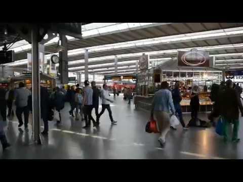 D: München Hauptbahnhof. Munich Central Train Station. Bavaria. Mai 2015