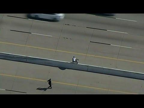 Dief krijgt schok op snelweg