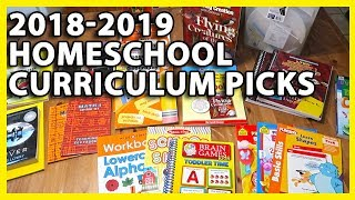 2018-2019 HOMESCHOOL CURRICULUM PICKS