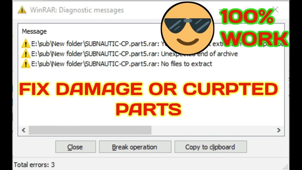 How to fix Damage or Corrupted rar or zip Parts by smartpatel