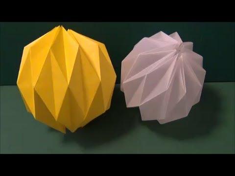 花 折り紙 折り紙 玉 : youtube.com