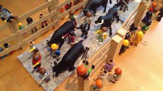 Encierro San Fermin con toros de juguete | Stop Motion