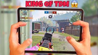 King of TDM 🔥 IPAD PRO 2020 PUBG    HANDCAM 4 Finger + Full Gyro   Pubg Mobile