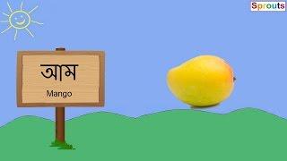 Learn Fruits in Assamese (অসমীয়াত ফল-মূল)