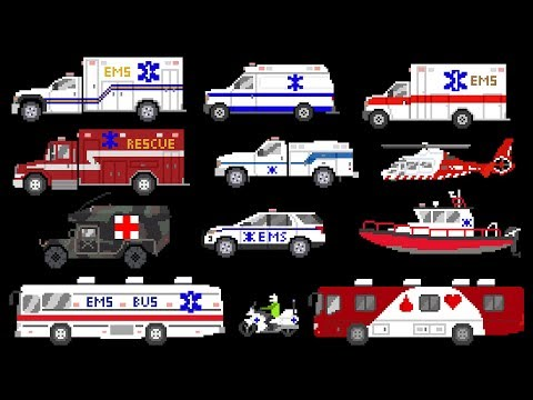 Medical Vehicles - Emergency Vehicles - Ambulances - The Kids' Picture Show (Fun & Educational)
