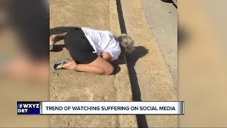 Trend of watching people suffer on social media