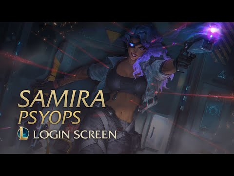 PsyOps Samira | Login Screen - League of Legends (fanmade)