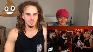 ONE DIRECTION INTERVIEW - Funny Impersonations Harry Photobomb! - REACTION