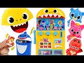 Pinkfong Baby Shark drinks vending machine toys play! Let's get milk and candy~!   PinkyPopTOY