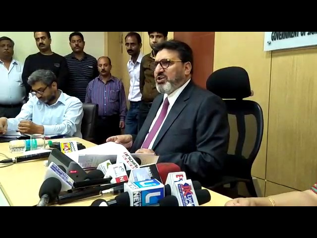 Altaf Bukhari, Mister for Education