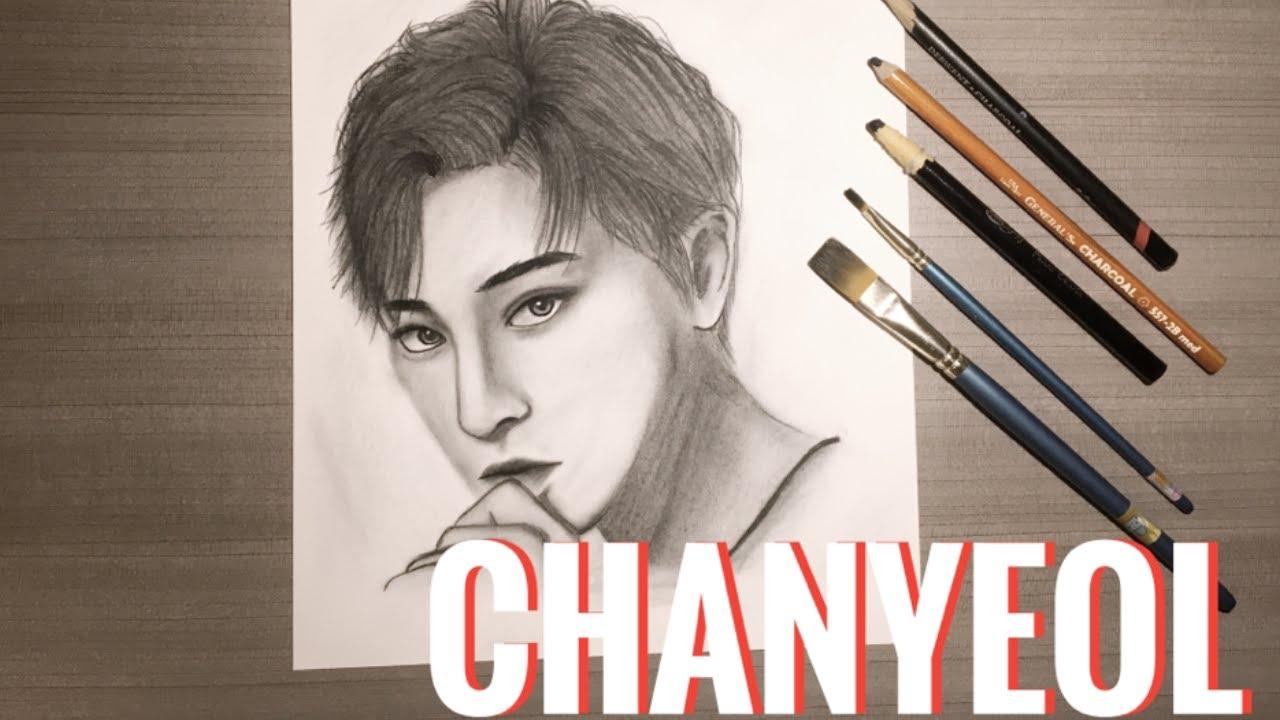 DRAWING EXO: CHANYEOL | Dibujando a ChanYeol de EXO | Haru Yun