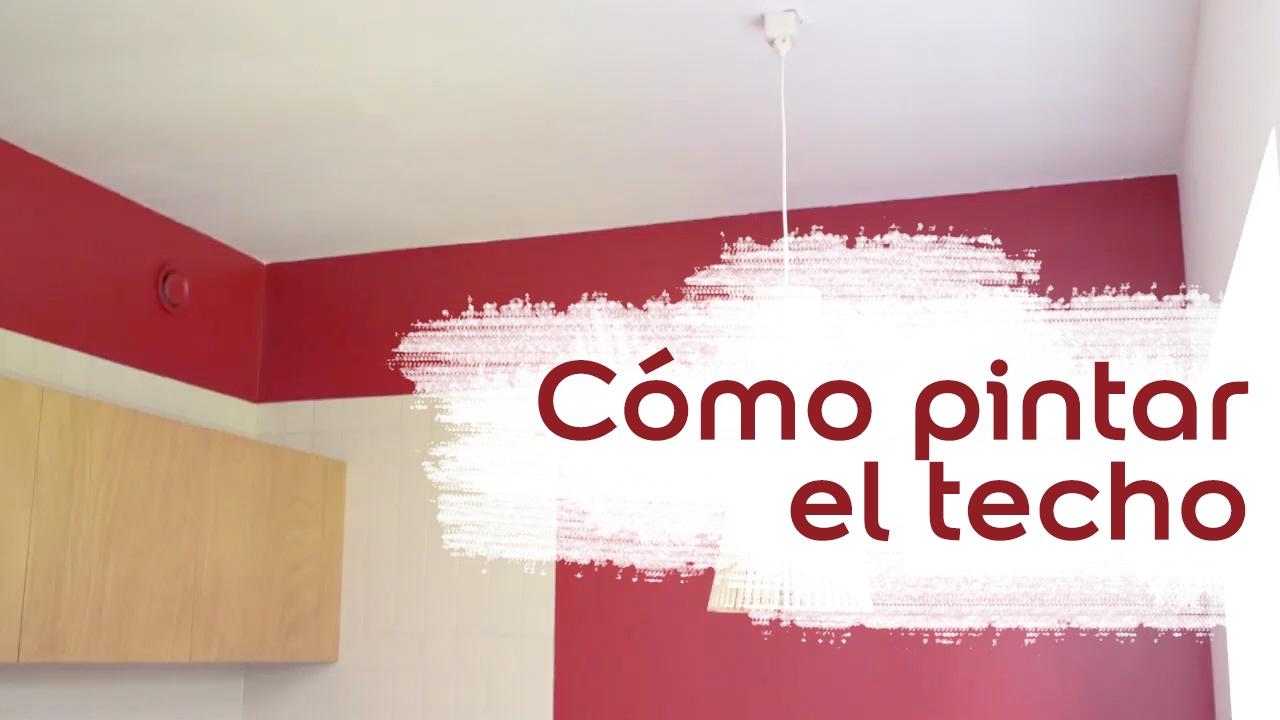Tutorial c mo pintar el techo de una habitaci n bruguer - Como pintar techos ...