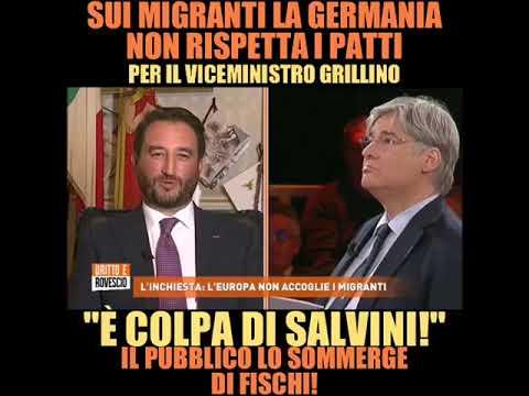 """IL GRILLINO: """"COLPA DI SALVINI"""". E IL PUBBLICO LO SOMMERGE DI FISCHI (DRITTO E ROVESCIO, 31.10.2019)"""