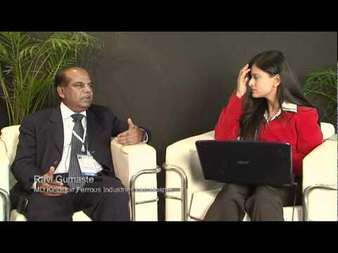 Ravi Gumaste, MD of Kirloskar Ferrous Industrial Ltd., Hospet