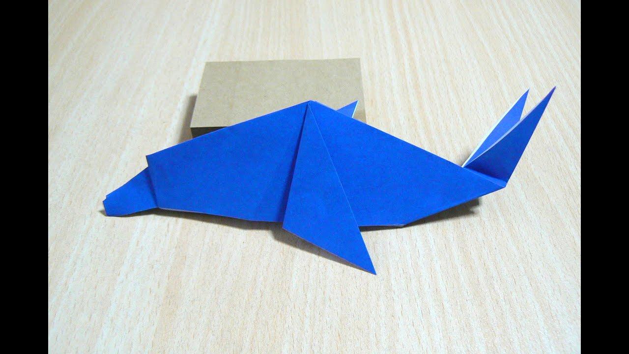comment faire dauphin origami l 39 art du pliage de papier. Black Bedroom Furniture Sets. Home Design Ideas
