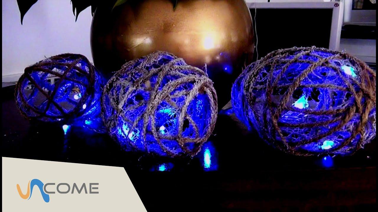Sfere di luci facili decorazioni per natale youtube